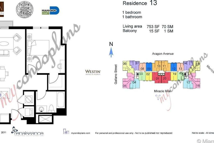 Ten Aragon Unit 1413 1 Bedroom Condo For Sale 753 Sqft